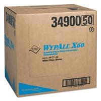 WypAll X60 Cloths, Flat Sheet, 12 1/2 x 16 4/5, White, 150/BX, 6/CT (34900)