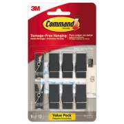 Command Spring Hook, 5/8w x 3/4d x 1 1/2h, Slate, 8 Hooks/Packs (17089S8ES)