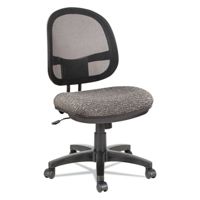Alera Interval Series Swivel/Tilt Mesh Chair, Supports up to 275 lbs., Graphite Gray Seat/Graphite Gray Back, Black Base (ALEIN4844)