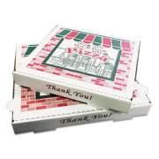 PIZZA Box Takeout Containers, 10in Pizza, White, 10w x 10d x 1 3/4h, 50/Carton (XX BOX PZCORB10)