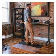 ES Robbins Sit or Stand Mat for Carpet or Hard Floors, 45 x 53, Clear/Black (184603)