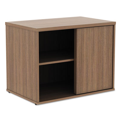 Alera Open Office Low Storage Cabinet Credenza, 29 1/2 x 19 1/8x 22 7/8, Walnut (ALELS593020WA)