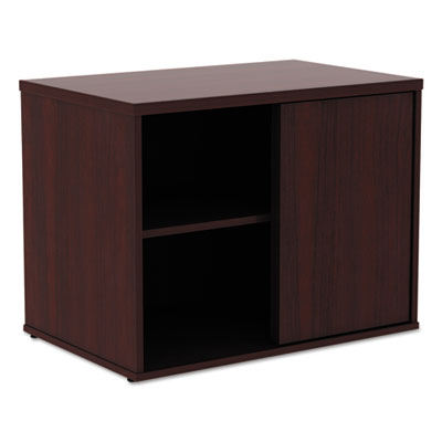 Alera Open Office Low Storage Cab Cred, 29 1/2w x 19 1/8d x 22 7/8h, Mahogany (ALELS593020MY)