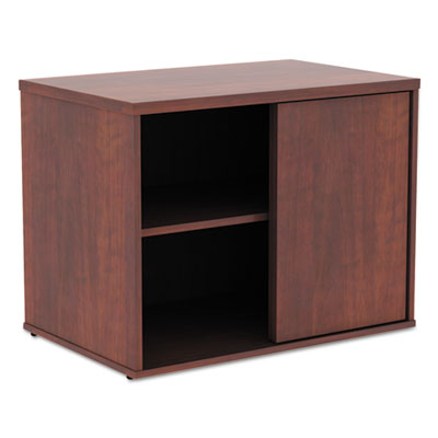 Alera Open Office Low Storage Cabinet Credenza, 29 1/2 x 19 1/8x 22 7/8, Cherry (ALELS593020MC)