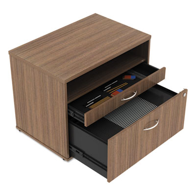 Alera Open Office Series Low File Cabinet Credenza, 29.5w x19.13d x 22.88h,Walnut (ALELS583020WA)
