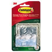 Command All Weather Hooks and Strips, Plastic, Small, 16 Clips and 20 Strips/Pack (17017CLRAWES)