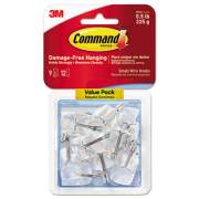 Command Clear Hooks & Strips, Plastic/Wire, Small, 9 Hooks w/12 Adhesive Strips per Pack (17067CLR-9ES)