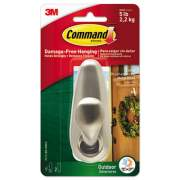 Command All Weather Hooks and Strips, Metal, Large, 1 Hook and 2 Strips (FC13BNAWES)