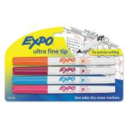 EXPO Low-Odor Dry-Erase Marker, Extra-Fine Needle Tip, Assorted Colors, 4/Set (1884308)