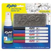 EXPO Low-Odor Dry Erase Marker Starter Set, Extra-Fine Needle Tip, Assorted Colors, 5/Set (1884310)