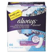 Always DISCREET INCONTINENCE PADS, MODERATE, 66/PACK, 3 PACKS/CARTON (92726)