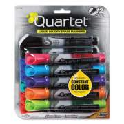 Quartet EnduraGlide Dry Erase Marker, Broad Chisel Tip, Assorted Colors, 12/Set (500120M)
