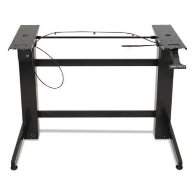 WorkFit by Ergotron WorkFit-B Sit-Stand Workstation Base, Heavy-Duty, 88 lbs Max Weight Cap, 42w x 26d x 51.5h, Black (24-388-009)