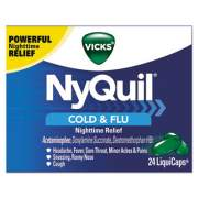 Vicks NyQuil Cold and Flu Nighttime LiquiCaps, 24/Box (01440BX)