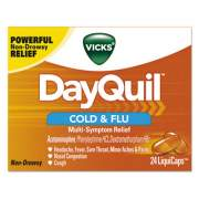 Vicks DayQuil Cold and Flu LiquiCaps, 24/Box (01443BX)