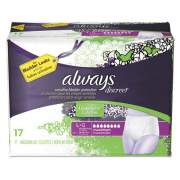 Always DISCREET INCONTINENCE UNDERWEAR, LARGE, MAXIMUM ABSORBENCY, 17/PACK, 3 PACKS/CARTON (92736)
