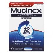 Mucinex Maximum Strength Expectorant, 14 Tablets/Box (02314)