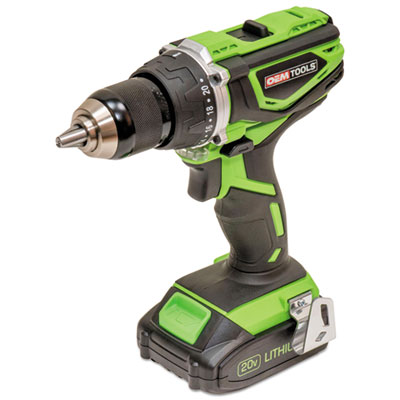 "OEMTOOLS Heavy Duty 20V Cordless Hammer Drill, 2000 rpm, 1/2"" Jacob's Chuck, 20 Volt (GNS24482)"