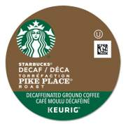 Starbucks Pike Place Decaf Coffee K-Cups, 96/Carton (011068092CT)