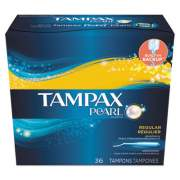 Tampax Pearl Tampons, Regular, 36/Box (71127BX)