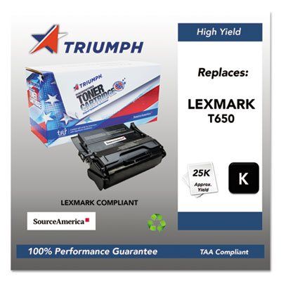 Green Way Toner Remanufactured Toner Replacement for LEXMARK X651H21A Yields 25000