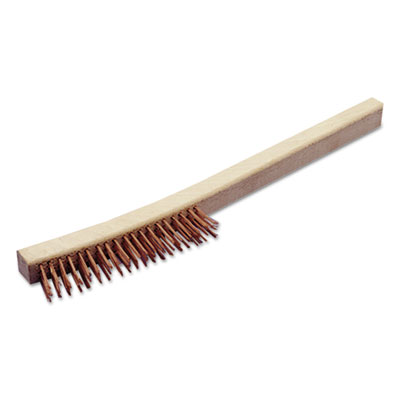 "AbilityOne 7920007920002555135, SKILCRAFT, Wire Brush, 13.5"" Length, 1.25"" Bristles, Copper/Wood"