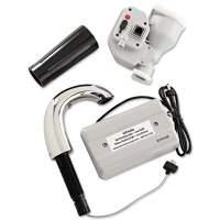 "Rubbermaid Commercial TC OneShot Dispenser, 1600 mL, 6.8"" x 9.8"" x 13.8"", Polished Chrome/Black (FG401310)"