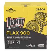 Brawny FLAX 900 Heavy Duty Cloths, 9 x 16 1/2, White, 72/Box, 10 Box/Carton (29608)