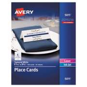 Avery Small Textured Tent Cards, White, 1 7/16 x 3 3/4, 6 Cards/Sheet, 150/Box (05011)