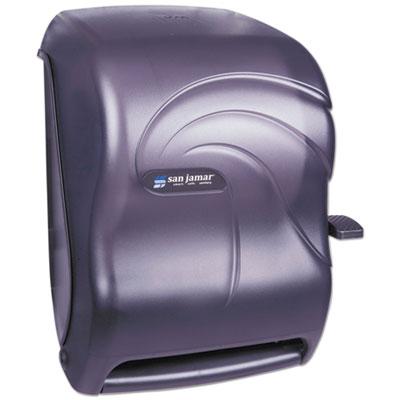 San Jamar Lever Roll Towel Dispenser, Oceans, Black Pearl, 12 15/16 x 9 1/4 x 16 1/2 (SAN T1190TBK)