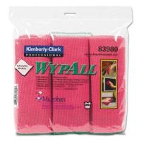 WypAll Microfiber Cloths, Reusable, 15 3/4 x 15 3/4, Red, 6/PK, 4 PK/CT (83980)