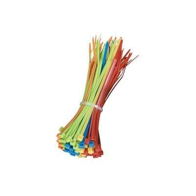 Black Box Nylon Cable Zip Ties 1/8x4in Asstd 100pk (FT611)