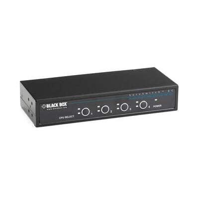 Black Box Kvm Swt Ps2 Cnsl Sh Vga Ps2 Dt/rk 4pt (KV9004A)