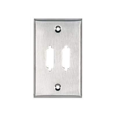Black Box Wallplate Db15 1-gang 2-punchout Stls (WP081)
