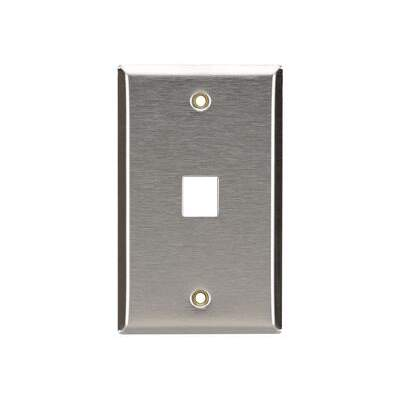 Black Box Kystn Wallplate Stnls Stl Single-gng 1pt (WP370)