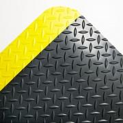 Crown Industrial Deck Plate Anti-Fatigue Mat, Vinyl, 24 x 36, Black/Yellow Border (CD0023YB)