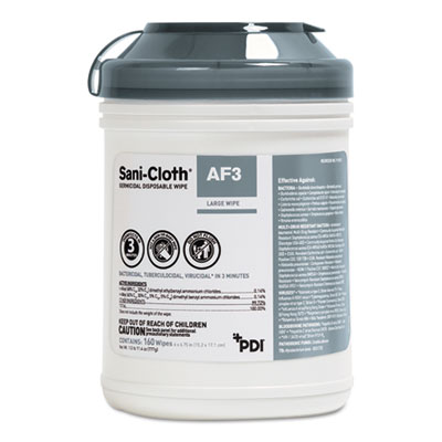 Sani Professional Sani-Cloth AF3 Germicidal Disposable Wipes, 6 x 6 3/4, 12 per Carton (P13872)
