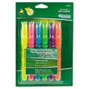 Ticonderoga Emphasis Desk Style Highlighters, Chisel Tip, Assorted Colors, 6/Set (47076)