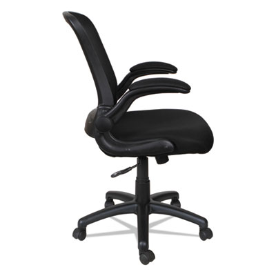 Alera EB-E Series Swivel/Tilt Mid-Back Mesh Chair, Supports up to 275 lbs., Black Seat/Black Back, Black Base (ALEEBE4217)