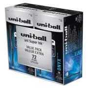 uni-ball ONYX Stick Roller Ball Pen, Fine 0.7mm, Black Ink, Black Matte Barrel, 72/Pack (2013567)