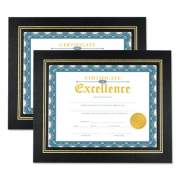 Universal Leatherette Document Frame, Certificate/Document, 11 x 8 1/2, Black, 2/PK (76838)