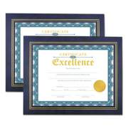 Universal Leatherette Document Frame, Certificate/Document, 11 x 8 1/2, Blue, 2/Pack (76839)