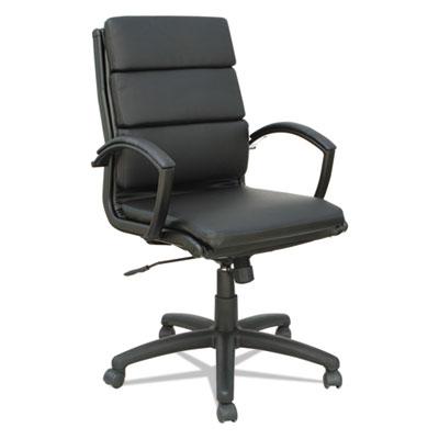 Alera Neratoli Mid-Back Slim Profile Chair, Supports up to 275 lbs., Black Seat/Black Back, Black Base (ALENR42B19)