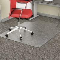Alera Occasional Use Studded Chair Mat for Flat Pile Carpet, 36 x 48, Lipped, Clear (CM1J112ALEPL)