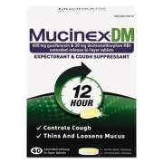 Mucinex DM Expectorant and Cough Suppressant, 40 Tablets/Box (05640)