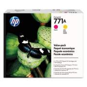 HP 771A 775-ml Magenta/Yellow DesignJet Ink Cartridges/Printhead (P2V48A)