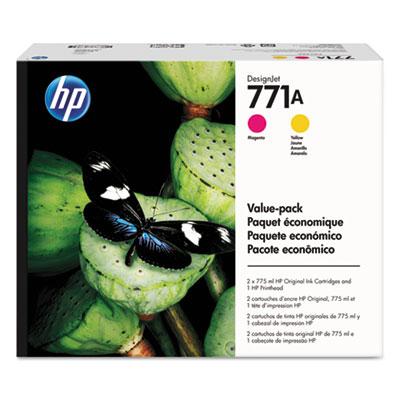 HP 771A 775-ml Magenta/Yellow DesignJet Ink Cartridges/Printhead (P2V48A)
