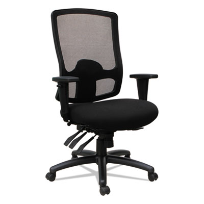 Alera Etros Series High-Back Multifunction with Seat Slide Chair, Supports up to 275 lbs., Black Seat/Black Back, Black Base (ALEET4117)