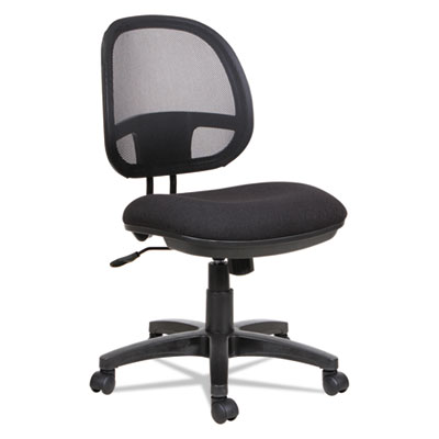 Alera Interval Series Swivel/Tilt Mesh Chair, Supports up to 275 lbs., Black Seat/Black Back, Black Base (ALEIN4814)