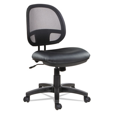 Alera Interval Series Swivel/Tilt Mesh Chair, Supports up to 275 lbs., Black Seat/Black Back, Black Base (ALEIN4815)